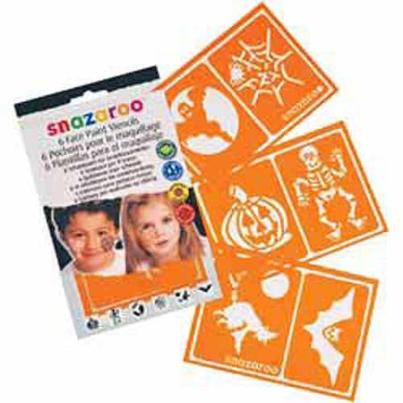 Snazaroo Face Painting Stencils, 6pk, Halloween](Halloween Witch Face Painting Ideas)