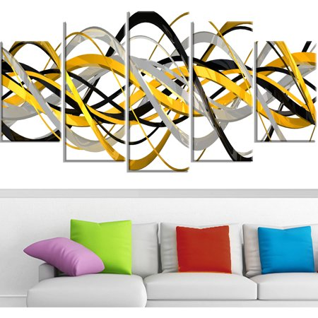 Design Art HelixExpression Abstract Art Canvas, 5 Panels, 60