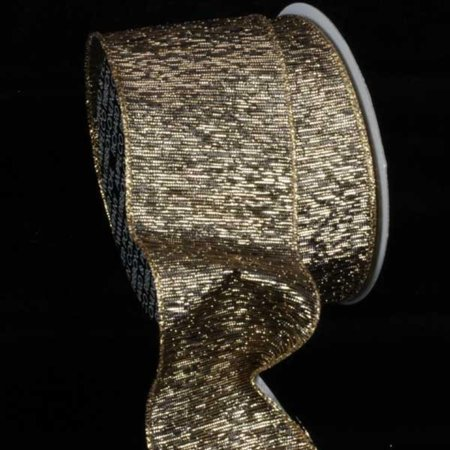 Antique Gold Wired Craft Ribbon 3