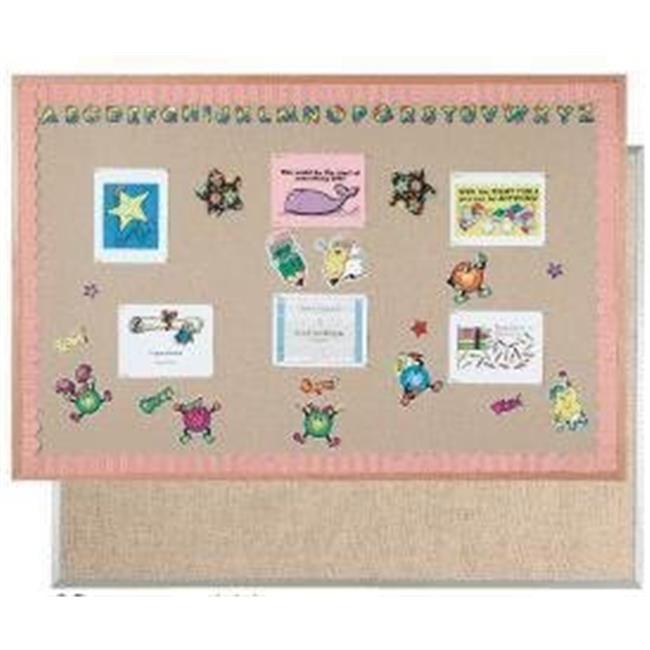 Aarco Products OV2436831 Burlap Weave Vinyl Bulletin Board, Mocha - 24 x 36 inch