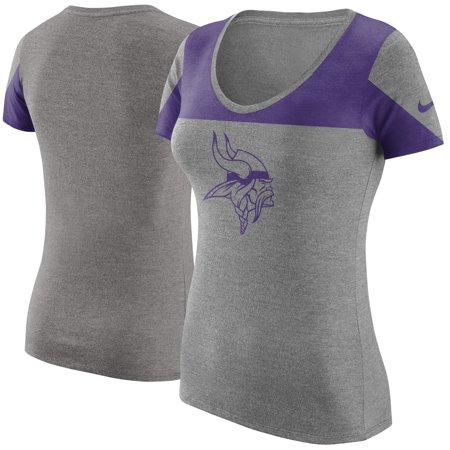 Minnesota Vikings Nike Women's Champ Drive 2 Tri-Blend T-Shirt - Heathered