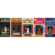 CandICollectables HAWKS514TS NBA Atlanta Hawks 5 Different Licensed Trading Card Team Sets