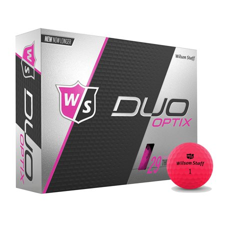 Wilson Staff Duo Soft Optix Proton Low Compression Golf Balls, Pink, 12 Pack