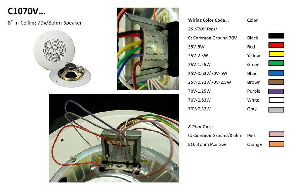 70v Volume Control Wiring Diagram | Online Wiring Diagram on how speakers work diagram, speaker wiring colors diagram, 70 volt speaker transformer wiring, powerflex allen bradley motor starter diagram, speaker wiring circuit diagram, volume control circuit diagram,