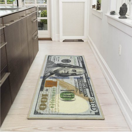 Ottomanson Siesta Collection Kitchen 100 Dollar Bill