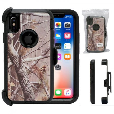 Design Full body &Heavy Duty Protection & Shock Reduction / Bumper Case Without Screen Protector for Apple iPhone X (Black Pinecone)