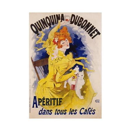 Dubonnet Cocktail (Quinquina Dubonnet Poster Print Wall Art By Jules Chéret)
