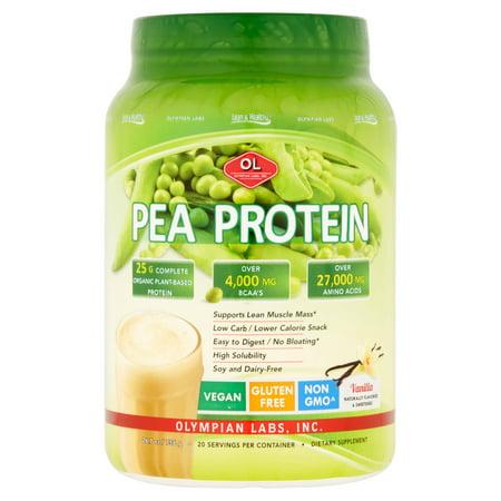 Olympian Labs Pea Protein Powder, Vanilla, 25g Protein, 1 8 Lb