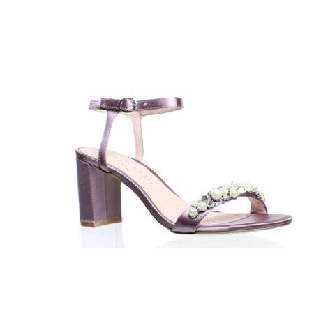 Chinese Laundry Womens Rosetta Lavendar Satin Ankle Strap Heels Size 7 Chinese Laundry Satin Heels