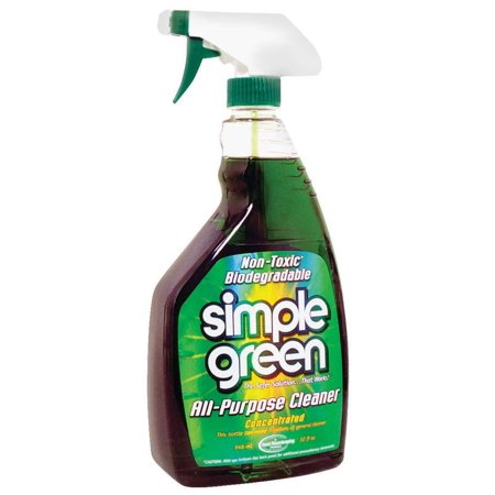 Simple Green All-Purpose Concentrated Cleaner - Concentrate Liquid - 0.25 gal (32 fl oz) - 1 Each - Green