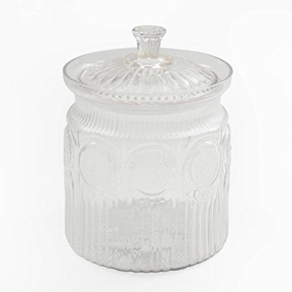 The Pioneer Woman Adeline Glass Cookie Jar, Clear, By The piomeer woman ()
