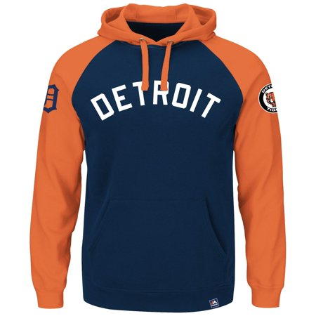 """Detroit Tigers Majestic MLB """"Sports Night"""" Cooperstown Hooded Sweatshirt by"""