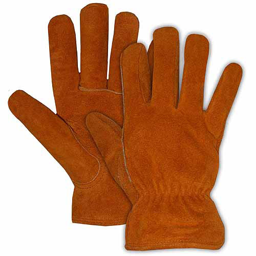 Boss Large Pile Lined Split Leather Gloves