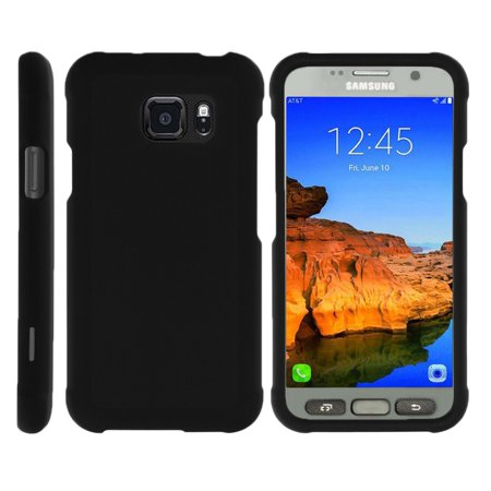 TurtleArmor ® | For Samsung Galaxy S7 Active G891A [Slim Duo] Two Piece Hard Cover Slim Snap On Case - Black (Samsung S7582 Galaxy S Duos 2)