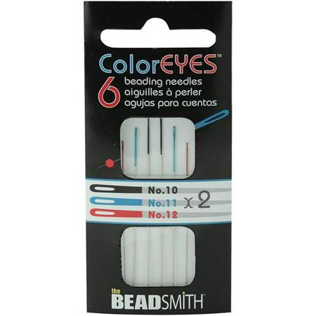 Beaded Needlepoint (Coloreyes Beading Needles Assortment 6/Pkg-Black #10, Blue #11, Red #12)