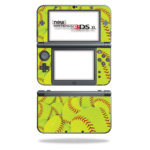 MightySkins Protective Vinyl Skin Decal for New Nintendo 3DS XL (2015) Case wrap cover sticker skins Softball Collection