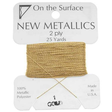 BeadSmith Metallic Thread - Gold Tone 2 Ply Thread For Embellishments 25 Yd 18 Left Thread