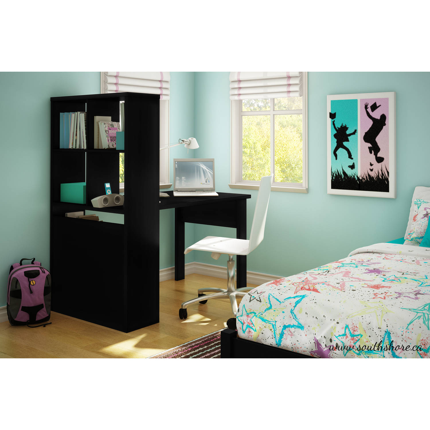 South Shore Annexe Work Table And Storage Unit Combo, Multiple Finishes    Walmart.com