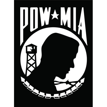 Custom Wall Decal Pow Mia Picture Art Boys BedRoom- Peel & Stick Sticker - Vinyl Wall Decal Size : 8 Inches X 12
