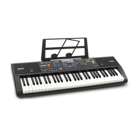 Plixio 61-Key Electric Piano Keyboard with Music Sheet Stand – Portable