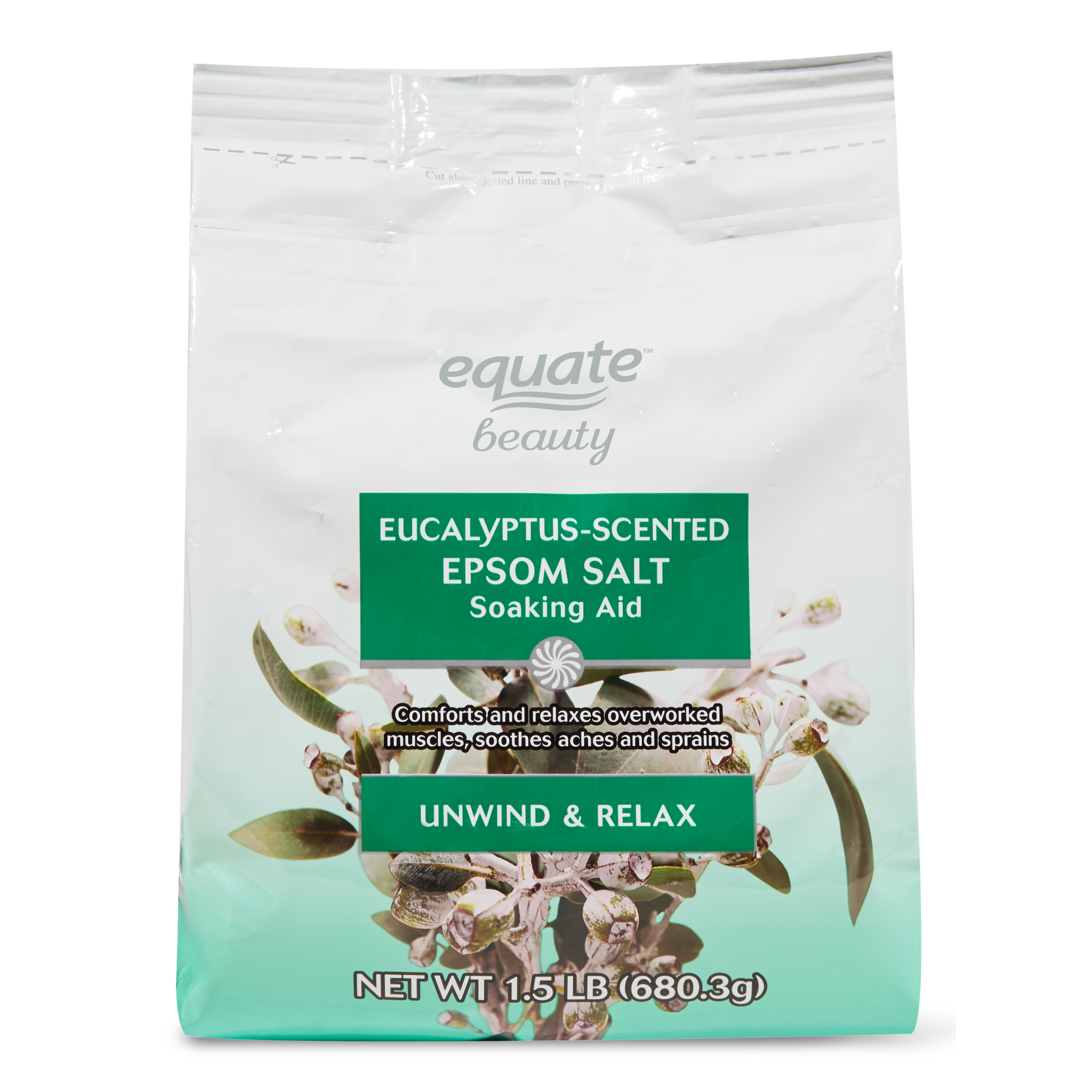 Equate Beauty Eucalyptus-Scented Epsom Salt Soaking Aid, 1.5 lb ...