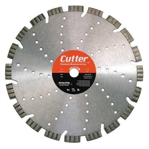 Cutter Diamond 12'' - 14'' Heavy Series Duty Dry/Wet Masonry Diamond Saw Blade for Brick & Block
