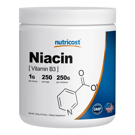 Nutricost Niacin Vitamin B3 Powder 250 Grams - 1G Per Serving - Pure, High Quality Vitamin B3