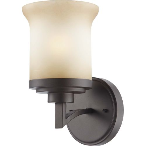 Nuvo Lighting 60 4121 Harmony Single Light Bathroom Fixture with Saffron Glass by Nuvo Lighting