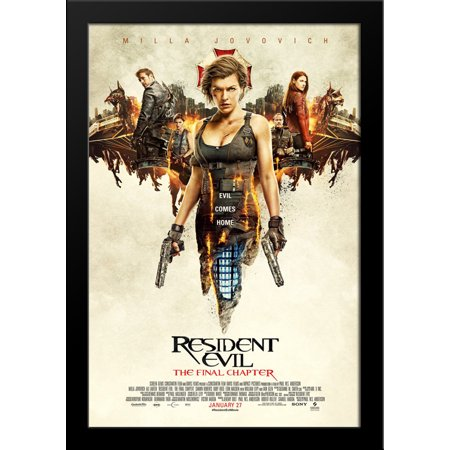 Resident Evil: The Final Chapter 28x36 Large Black Wood Framed Movie Poster Art Print