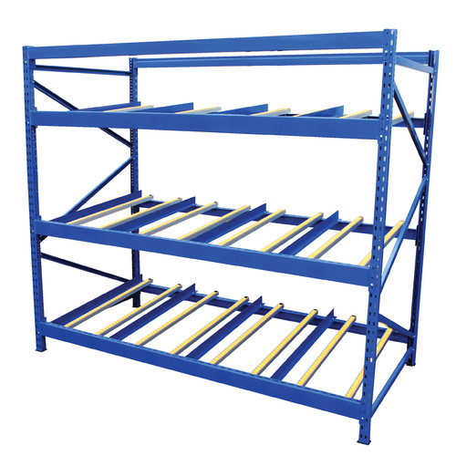 Vestil Carton Rack with Gravity Roll 3 Flow Levels
