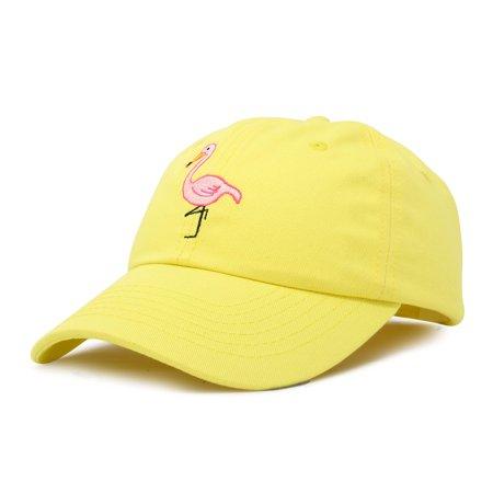 80f2e43ce0d DALIX Flamingo Hat Women's Baseball Cap in Minion Yellow