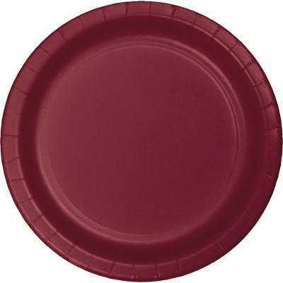 Creative Converting Burgundy Red Paper Plates, 24 ct