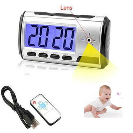 Spy Camera Alarm Clock Micro Hidden Nanny Cam Motion Detection Mini DV DVR Video Small Digital Alarm](Click Camera)