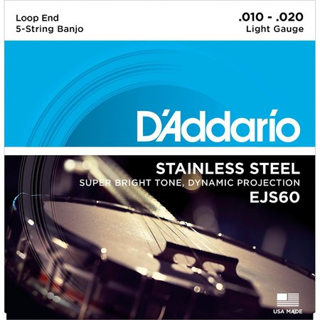 D'Addario EJS60 Stainless Steel Light 5-String Banjo Strings