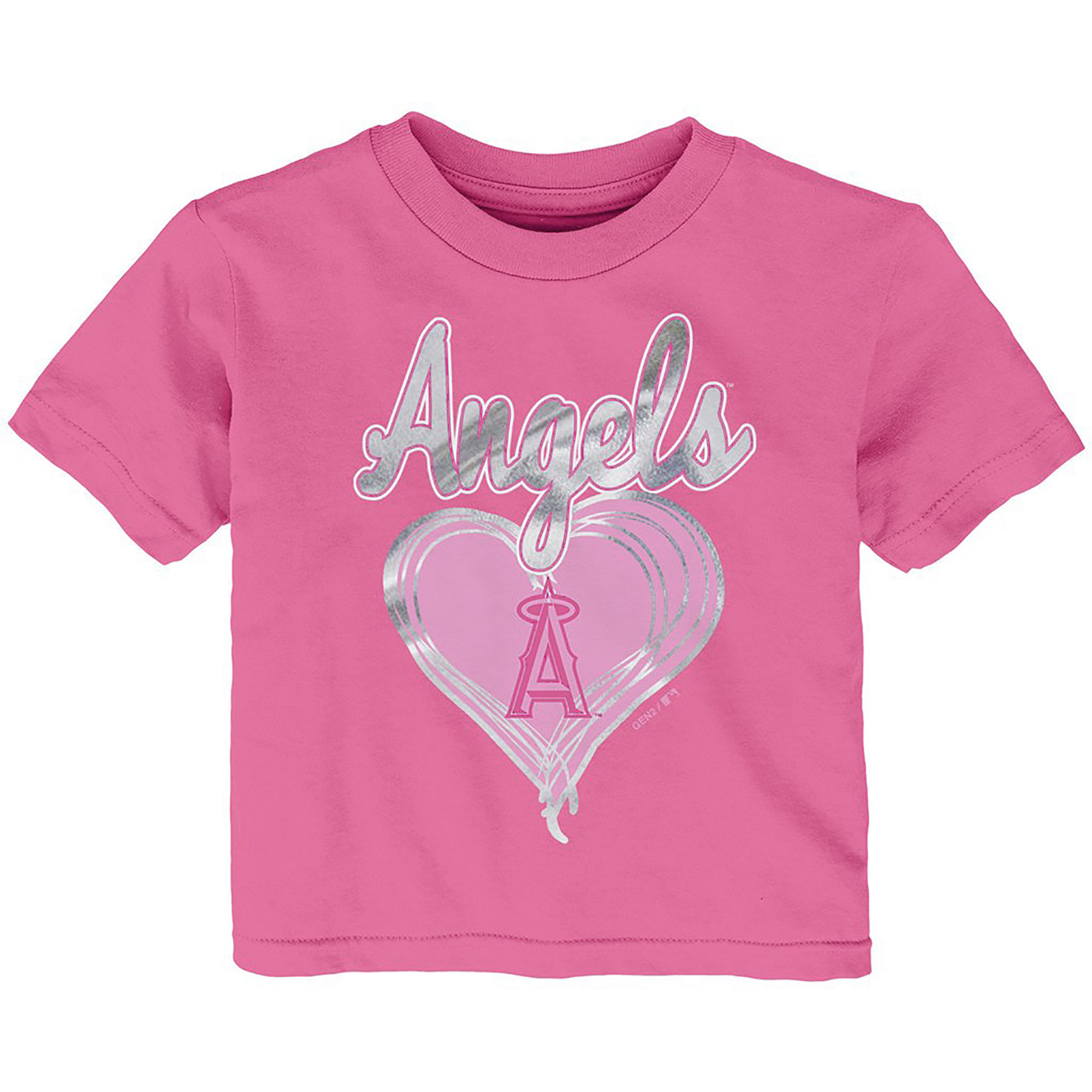 Los Angeles Angels Girls Infant Unfoiled Love T-Shirt - Pink