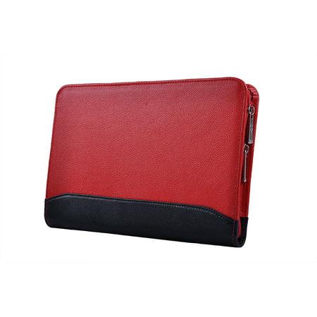 Compact Professional Leather Organizer Padfolio for iPad Mini 4 / iPad Mini / Mini 2, Junior Legal (A5)