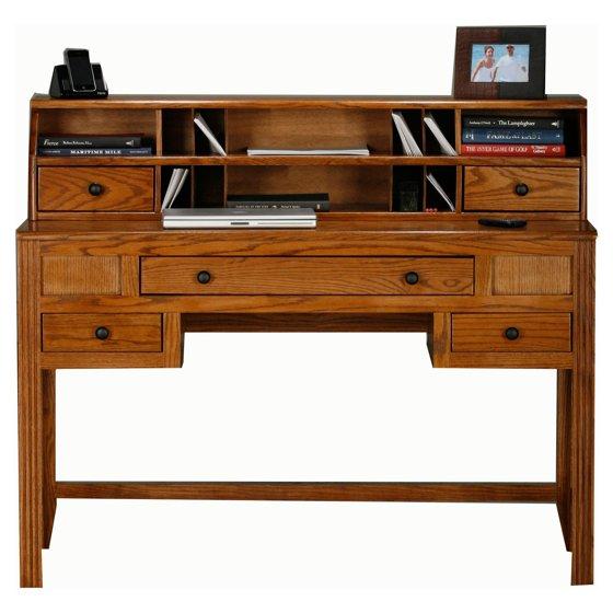 Eagle furniture oak ridge customizable writing desk with for Bureau edf 64