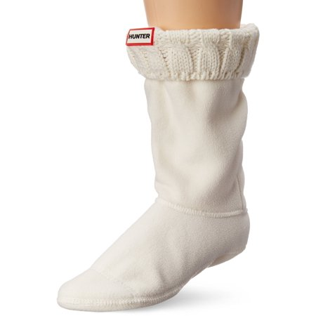 45c49c894aa8e Hunter - WAS1018AAB-NWH Hunter Women's Six-Stitch Cable Short Boot Socks -  White - LG - Walmart.com