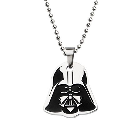 Women's Stainless Steel Star Wars Darth Vader Small Enamel Pendant with Ball Chain - Darth Maul Theme