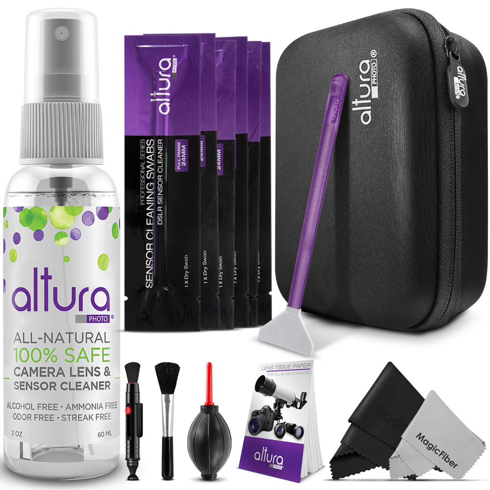 Altura Photo Professional Cleaning Kit for DSLR Cameras and Sensors Bundle with Full Frame Sensor Cleaning Swabs and Carry Case