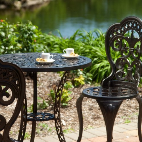 Alfresco Belham Living Palazetto Fleur Cast Aluminum Bist...