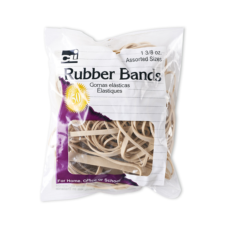 RUBBER BANDS NATURAL COLOR 1 3/8 OZ BAG