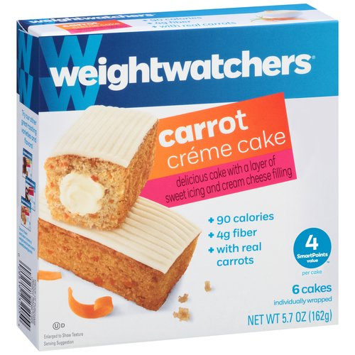 Weight Watchers Carrot Creme Cake, 0.95oz, 6ct