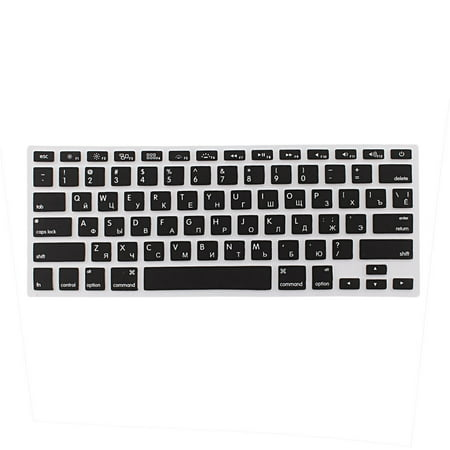 "Russian Silicone Keyboard Skin Cover Black for Apple Macbook Air 13""15""17"" US - image 2 of 2"