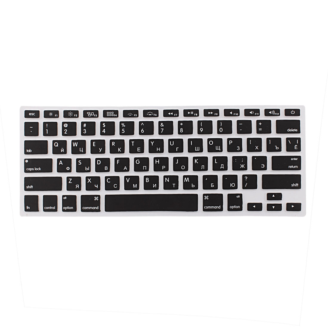 "Russian Silicone Keyboard Skin Cover Black for Apple Macbook Air 13""15""17"" US"
