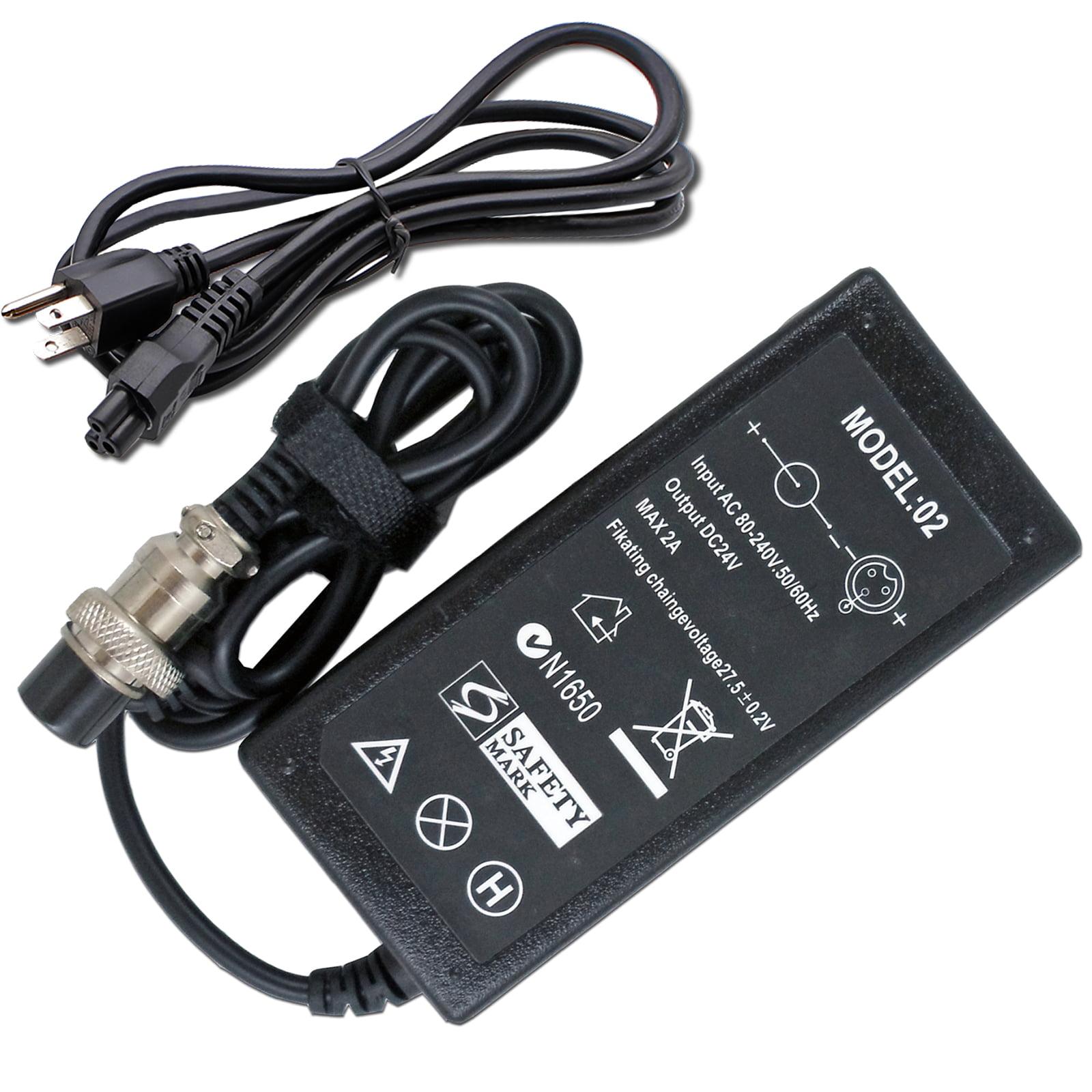 24V 2A Electric Scooter Battery Charger For RAZOR E100 E200 E300 E125 E150 E500 MX350 CC2420 PR200 Pocket Mod