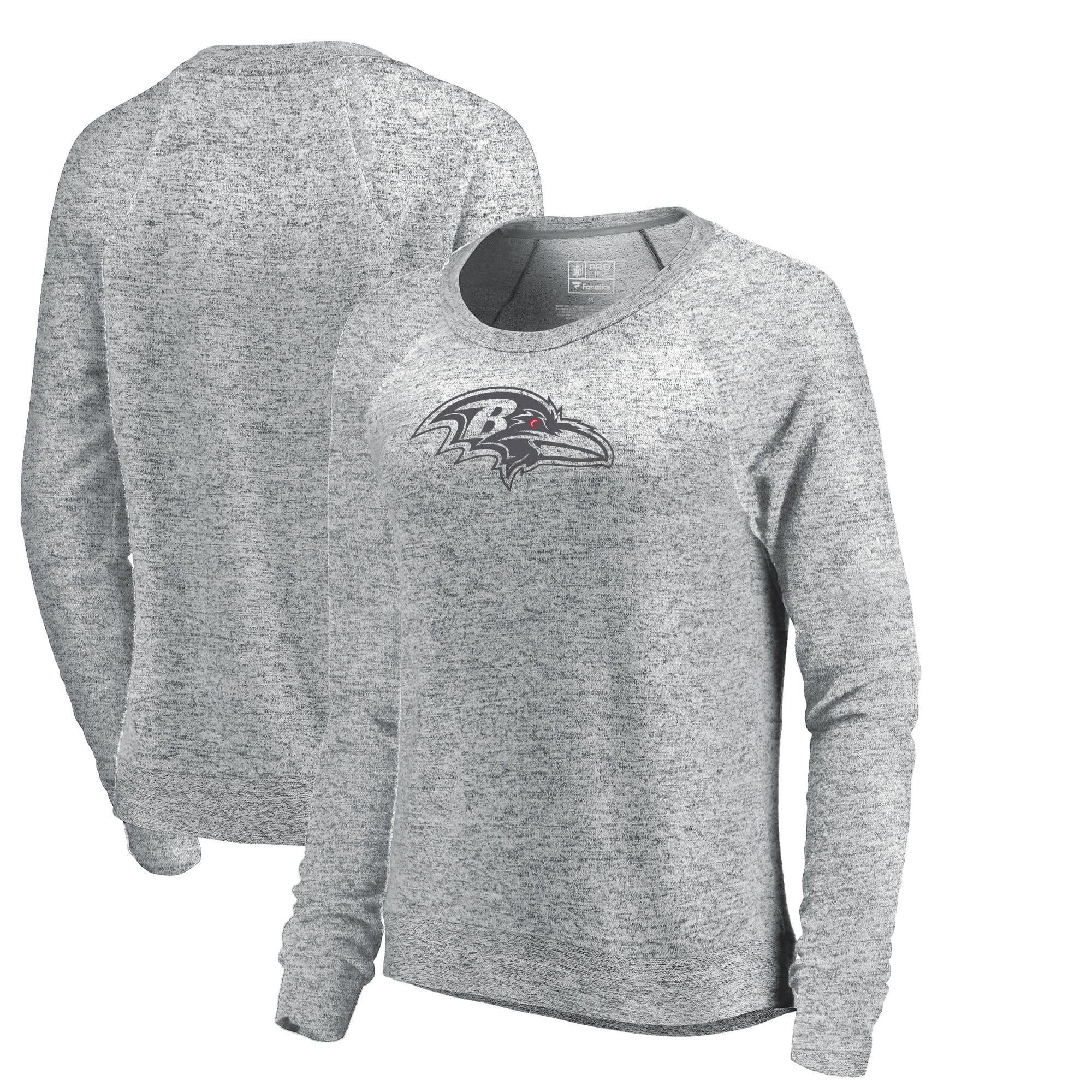 Baltimore Ravens NFL Pro Line by Fanatics Branded Women's Cozy Collection Plush Crew Sweatshirt - Ash