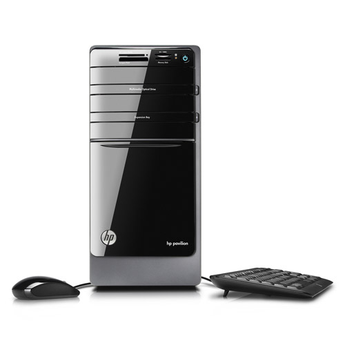 HP Black Pavilion p7-1010 Desktop PC with AMD Athlon II 645 Quad-Core Processor, 1TB Hard Drive and Windows 7 Home Premium (Monitor Not Included)
