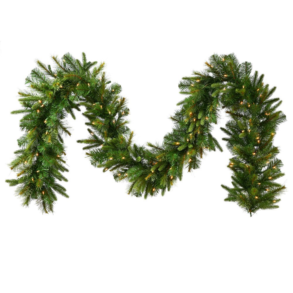 14 in. x 50 ft. Cashmere Pre-Lit Multi LED Garland