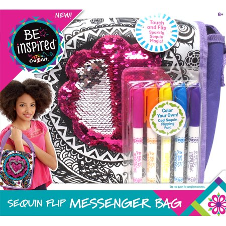 Cra-Z-Art Be Inspired Color Your Own Sequin Messenger